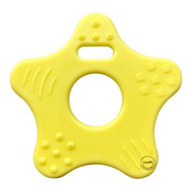 Plastic Bijtfiguur - Ster - Geel