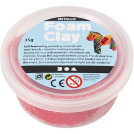 Foam Clay Rood Metallic 35 gram