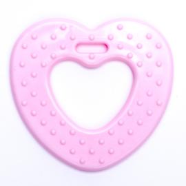 Plastic Bijtfiguur - Hart - Roze