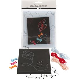 Mini Creatieve Set, , string art - vlieger