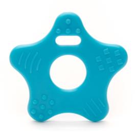 Plastic Bijtfiguur - Ster - Blauw
