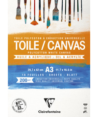 Blok Cosmos Canvas wit A3 10bl 200g - Wit