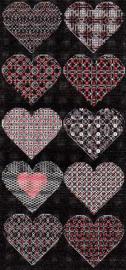 Blackwork Hearts 2