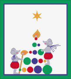 Advent Advent een kerstboom