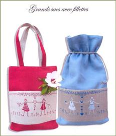 Grand sacs avec fillettes