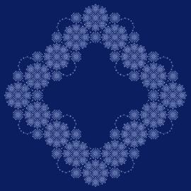 Arcelli Dekservet blauw pakket