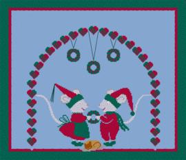Verliefde Kerstmuizen