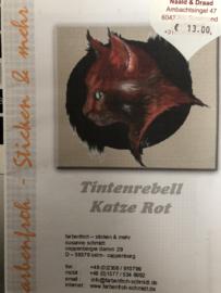 Tintenrebell Katze Rot