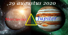 Mercurius driehoek Jupiter  - 29 augustus 2020