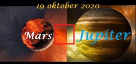 Mars vierkant Jupiter - 19 oktober 2020