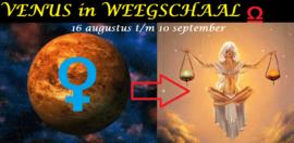 Venus in Weegschaal - 16 augustus 2021
