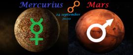 Mercurius oppositie Mars - 24 september 2020