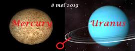 Mercurius conjunct Uranus - 8 mei