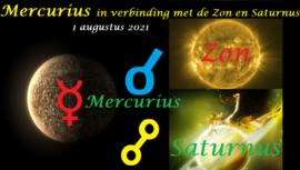 Mercurius conjunct Zon / oppositie Saturnus