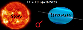 Zon conjunct Uranus 22+23 april