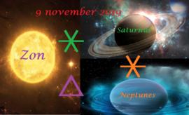 Saturnus * Neptunes ∆  Zon * Saturnus – 9 november 2019