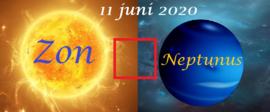 Zon vierkant Neptunus - 10 juni 2020