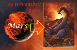 Mars enters Scorpio - 19 november 2019