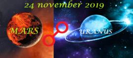 Mars oppositie Uranus - 24 november 2019