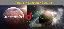 Mercurius conjunct Saturnus - 9+10 januari 2021