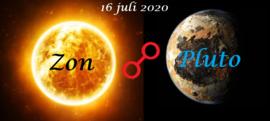 Zon oppositie Pluto - 16 juli 2020
