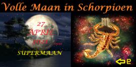 Volle SuperMaan in Schorpioen - 27 april 2021