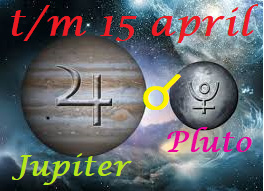 Jupiter conjunct Pluto - t/m 15 april