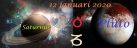 Saturnus conjunct Pluto - 12 januari 2020