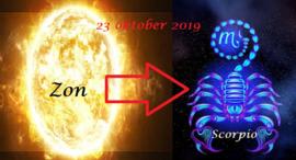 Zon in Schorpioen - 23 oktober 2019