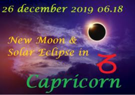 Nieuwe Maan en zonsverduistering in Steenbok