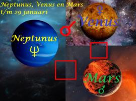 Neptunus, Venus en Mars