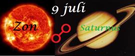 Zon oppositie Saturnus - 9 juli 2019