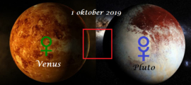 Venus vierkant Pluto - 1 oktober 2019