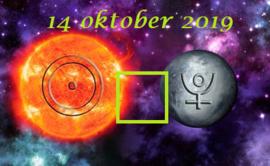 Zon vierkant Pluto - 14 oktober 2019