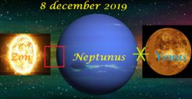 Neptunus vierkant Zon en sextiel Venus - 8 december 2019