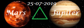 Mars driehoek Jupiter 25-07-2019