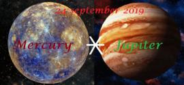 Mercurius sextiel Jupiter - 24 september 2019