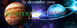 Jupiter driehoek Uranus - 15 december