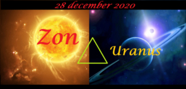 Zon driehoek Uranus - 28 december 2020