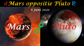 Mars oppositie Pluto - 6 juni 2021