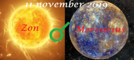 Zon conjunct Mercurius - 11 november 2019