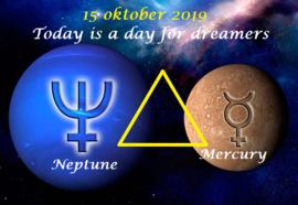 Neptunes driehoek Mercurius - 15 oktober 2019