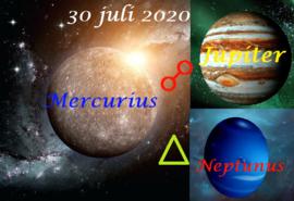 Mercurius - Jupiter - Neptunus - 30 juli 2020