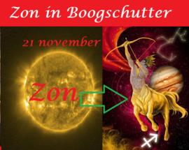 Zon in Boogschutter - 21 november 2020