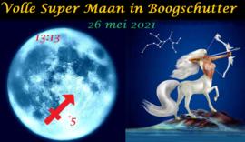 Volle Super Maan in Boogschutter - 26 mei 2021
