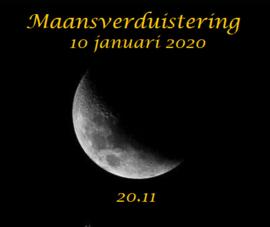 Maansverduistering 10 januari 2020