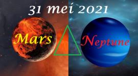 Mars driehoek Neptunus - 31 mei 2021