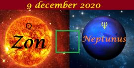 Zon vierkant Neptunus - 9 december 2020