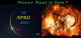 Nieuwe Maan in Ram - 12 april 2021