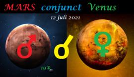 Venus conjunct Mars - 12 juli 2021